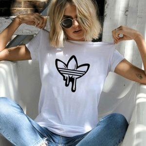 New White Drippin T-Shirt